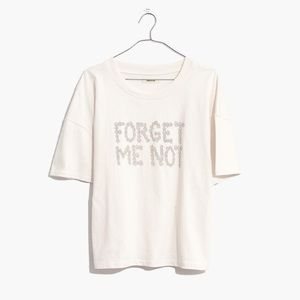 Madewell Forget Me Not Crop Tee NWOT